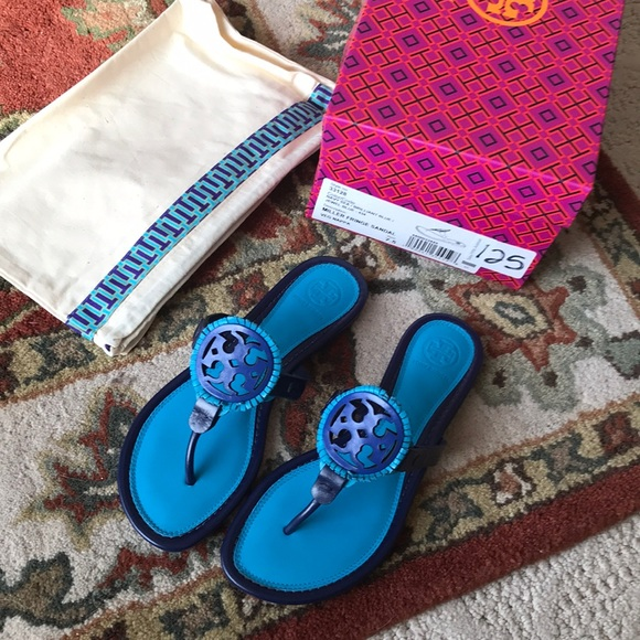 d5d21b2466ae5 New with box tory burch fringe Miller sandals 7.5